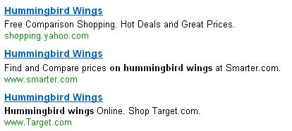Shop for hummingbird wings online!